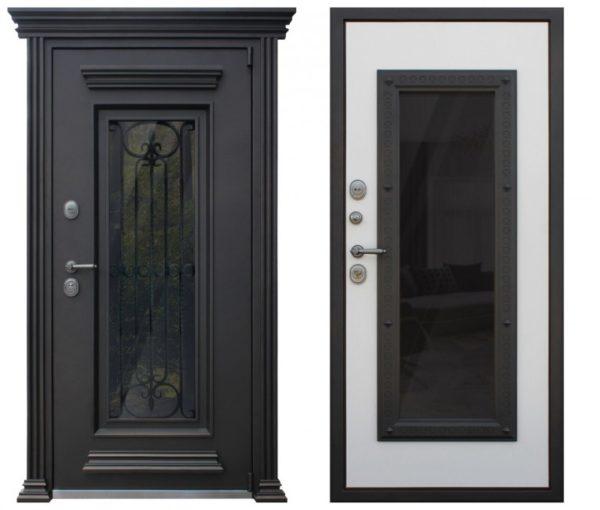 Входная дверь уличная с ковкой СП400