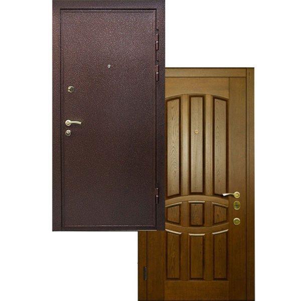 Входная дверь Порошковое напыление + МАССИВ ДУБА СП413
