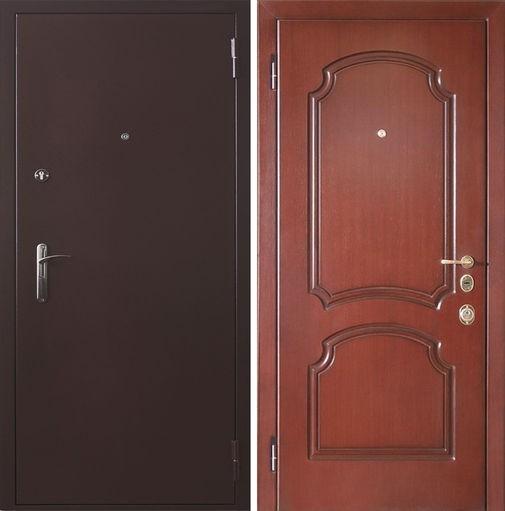 Входная металлическая дверь порошковое напыление и МДФ (шпон) СП035