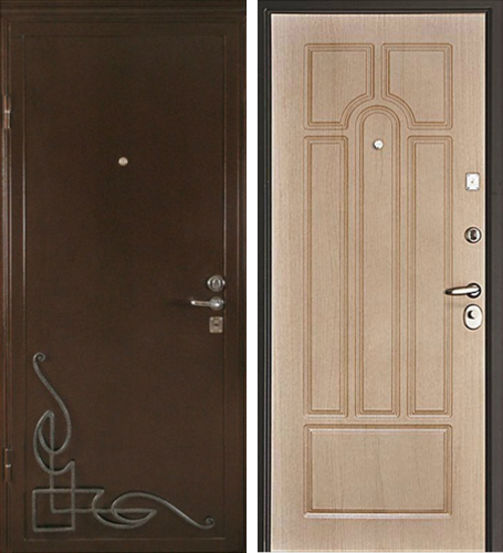 Входная металлическая дверь порошок + МДФ СП048