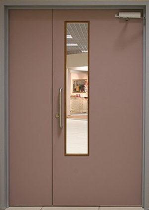 Дверь техническая с окошком, СП522