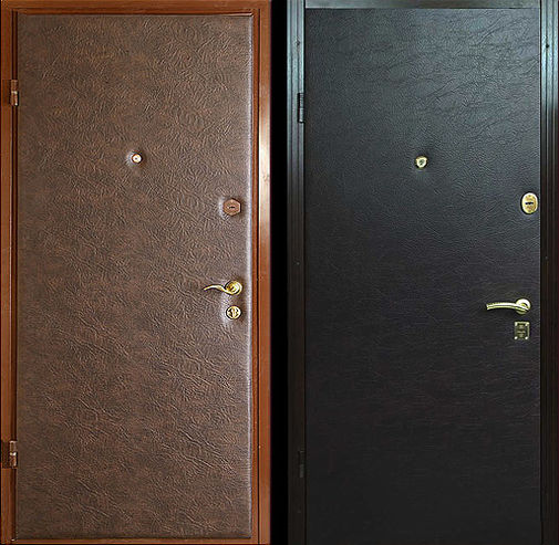 Входная металлическая дверь винилискожа СП285